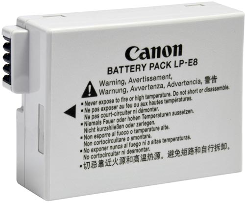 Canon LP-E8 Rechargeable Lithium Battery