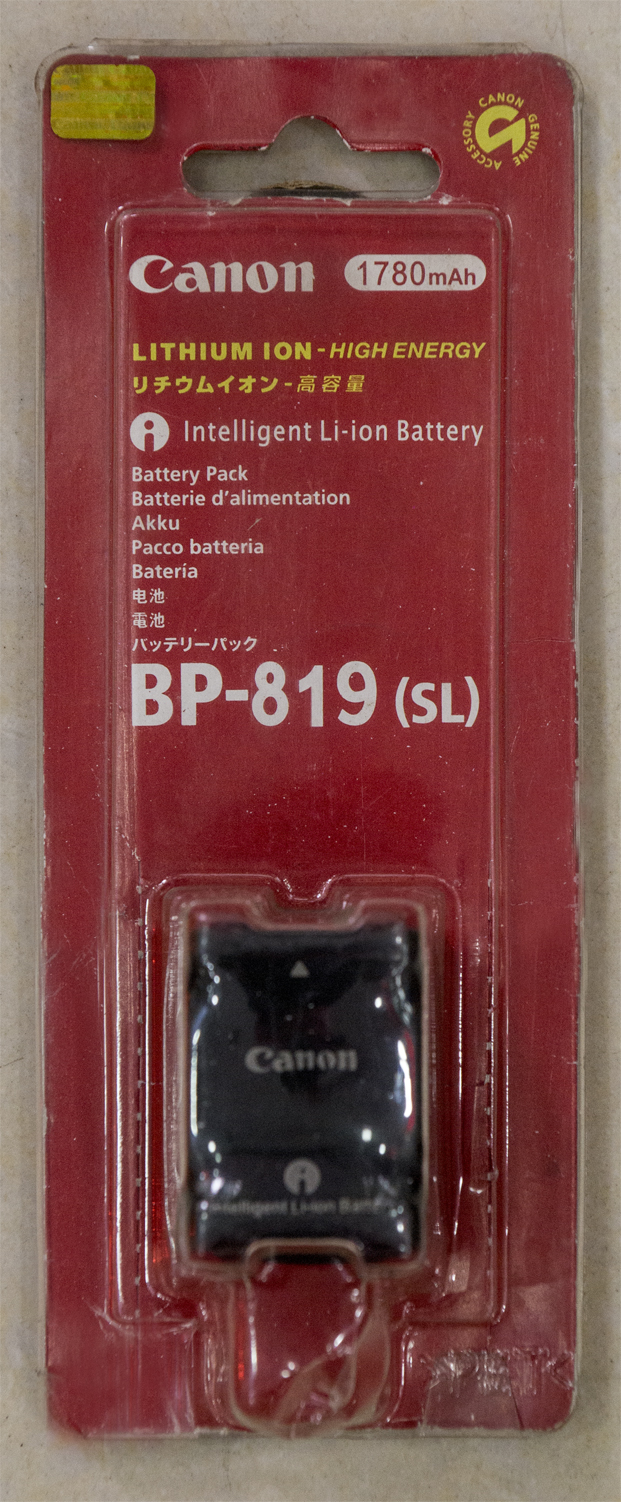 Canon BP-819 (SL) Rechargeable Lithium Battery