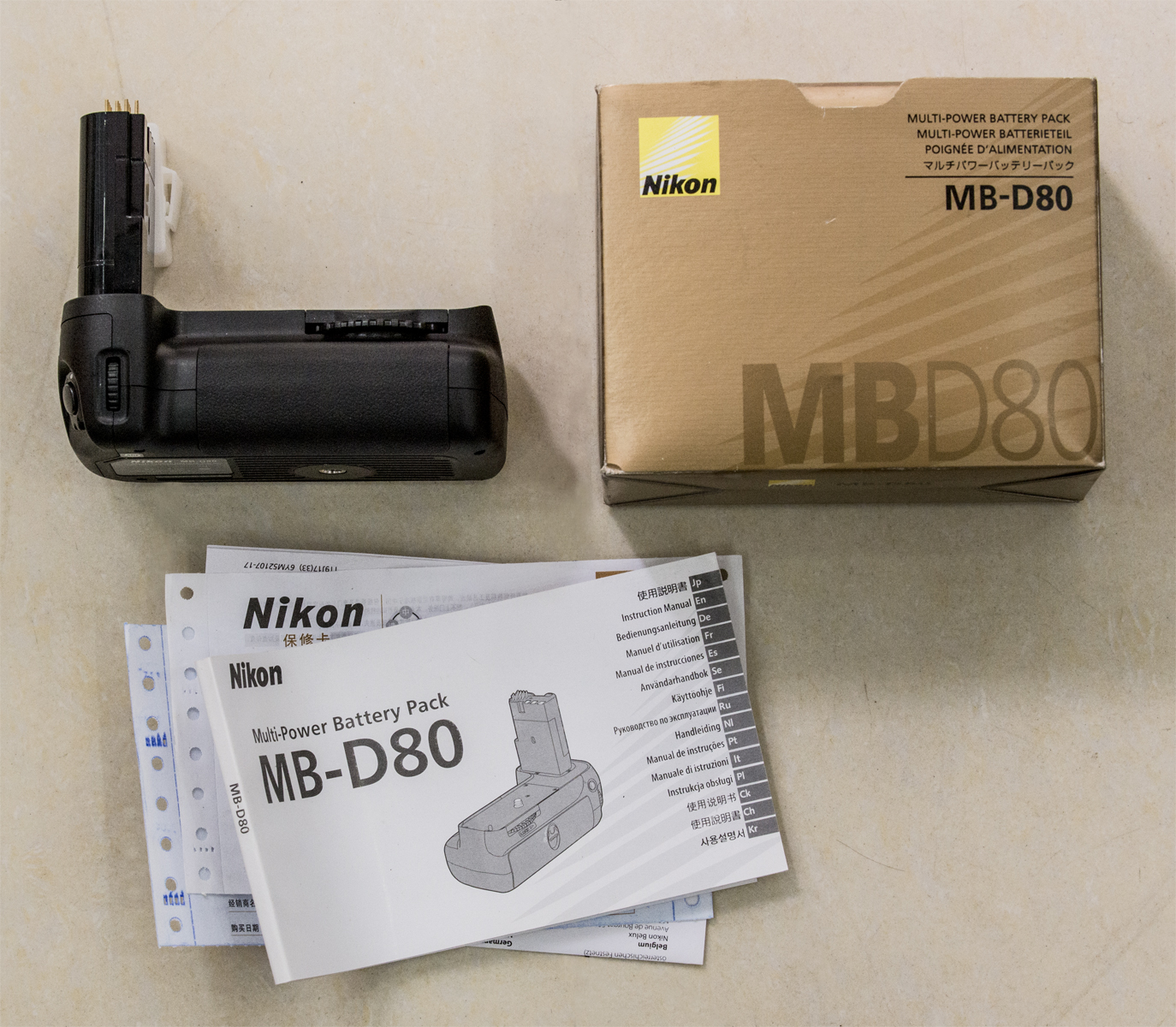 Grip Battery Nikon MB D80