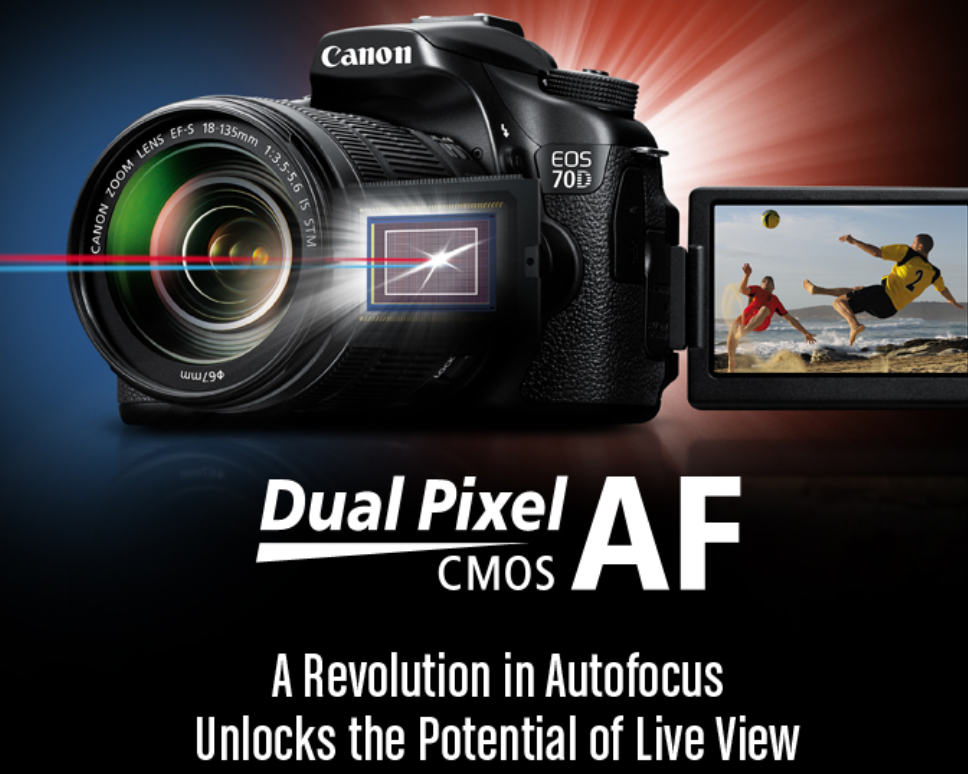Dual Pixel Cmos AF trong EOS 70D là gì?